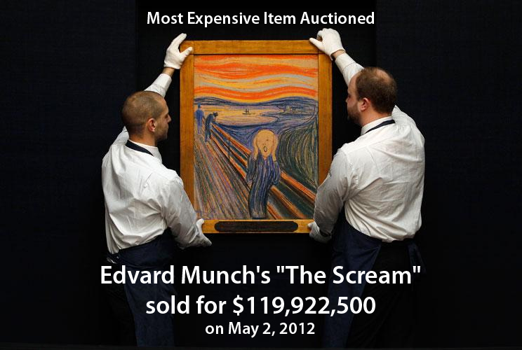 The Scream, sold at Sotheby's